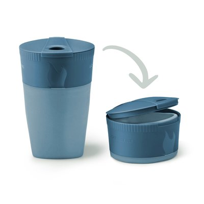 Pack-up-Cup BIO hazyblue - Faltbecher